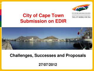 City of Cape Town Submission on EDIR