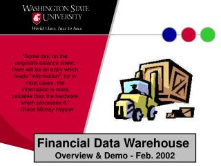 Financial Data Warehouse  Overview & Demo - Feb. 2002