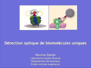 D tection optique de biomol cules uniques