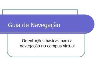 Guia de Navega��o