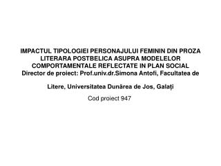 Cod proiect 947