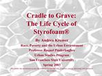 Cradle to Grave:   The Life Cycle of Styrofoam