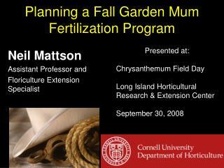 Planning a Fall Garden Mum Fertilization Program