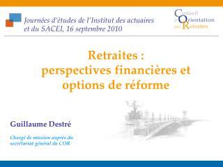 Journées d'études de l'Institut des actuaires et du SACEI, 16 septembre 2010