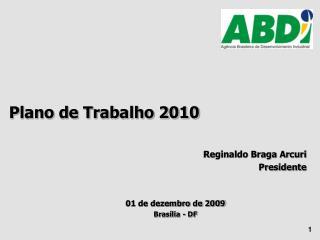Plano de Trabalho 2010