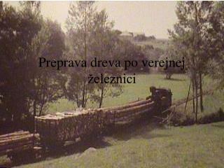 Preprava dreva po verejnej železnici