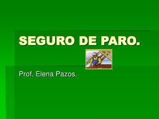 SEGURO DE PARO.