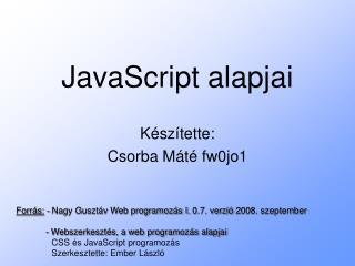 JavaScript alapjai