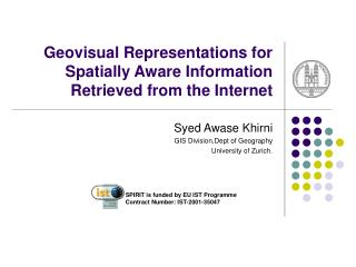 Geovisual Representations for Spatially Aware Information Retrieved from the Internet