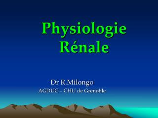 Physiologie R nale