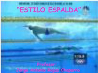 ESTILO ESPALDA