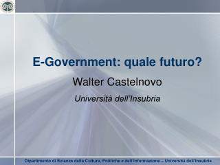 E-Government: quale futuro?