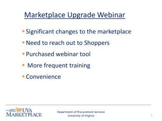Marketplace Upgrade Webinar