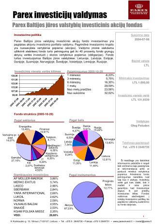 Parex  investicijų valdymas