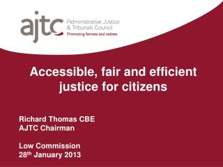Accessible, fair and efficient justice for citizens