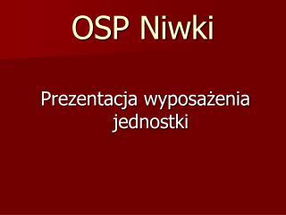 OSP Niwki