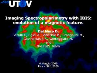 Imaging Spectropolarimetry with IBIS:  evolution of a magnetic feature. Del Moro D.