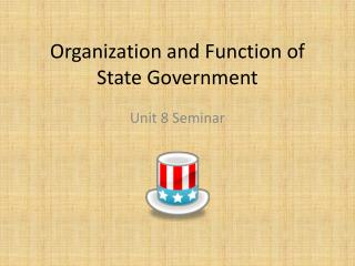 Organization and Function of State Government
