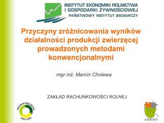 mgr inż. Marcin Cholewa