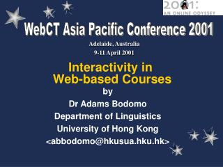 Interactivity in  Web-based Courses