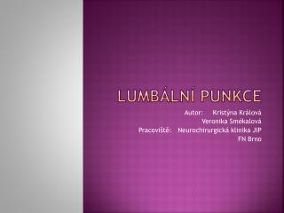 Lumbální punkce