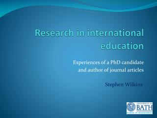 Research in international education