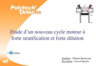 Etude d'un nouveau cycle moteur à forte stratification et forte dilution