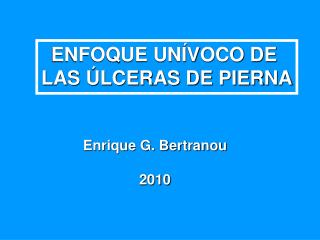 Enrique G. Bertranou 2010