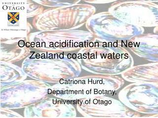 Ocean acidification and New Zealand coastal waters