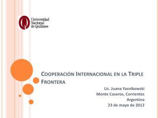 Cooperación Internacional en la Triple Frontera
