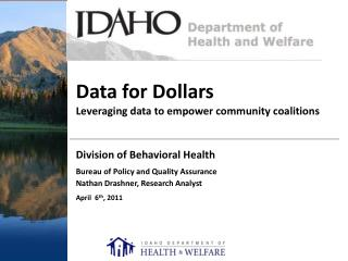 Data for Dollars Leveraging data to empower community coalitions
