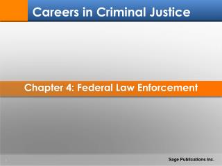 Chapter 4: Federal Law Enforcement