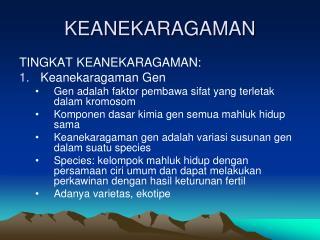 KEANEKARAGAMAN