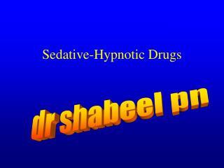 Sedative-Hypnotic Drugs