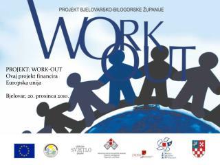 PROJEKT: WORK-OUT Ovaj projekt financira Europska unija Bjelovar, 20. prosinca 2010.