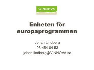 Enheten för europaprogrammen