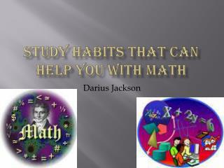 Study habits that can help you with Math