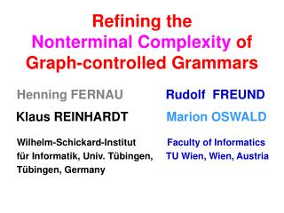 Refining the  Nonterminal Complexity  of Graph-controlled Grammars