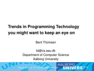Trends in Programming Technology  you might want to keep an eye on