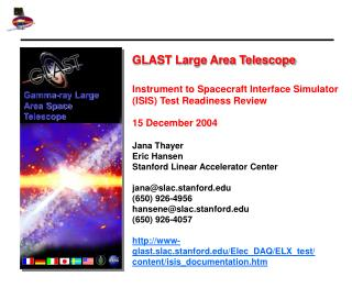 GLAST Large Area Telescope