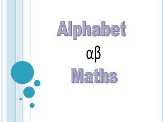 Alphabet  αβ Maths