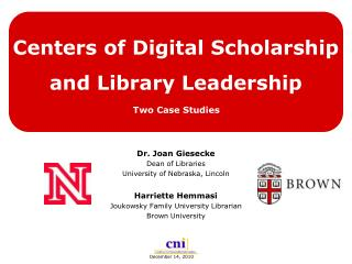 Centers of Digital Scholarship and Library Leadership