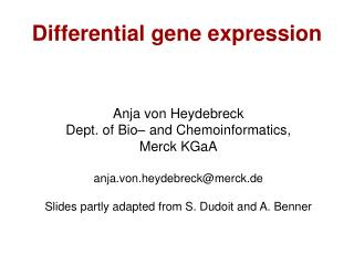 Differential gene expression