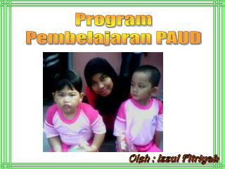 Program Pembelajaran PAUD