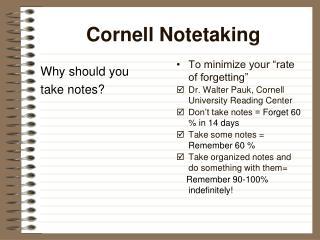 Cornell Notetaking