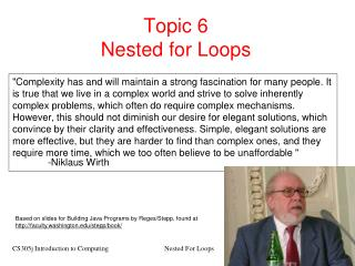 Topic 6 Nested for Loops