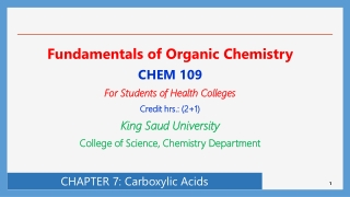 Chapter 16   Carboxylic AcidsRCOOH  and Derivatives