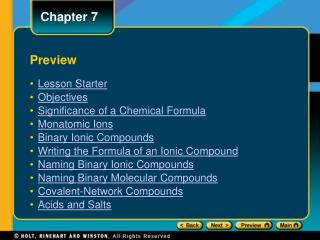 Experiment 3 Nomenclature of Compounds
