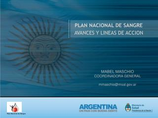 PLAN NACIONAL DE SANGRE