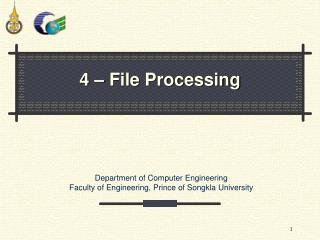 4 – File Processing
